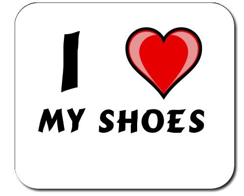 Custom mouse pad con i Love My Shoes