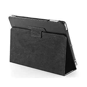 TeckNet iPad Folio Genuine Leather Case Cover and Flip Stand For Apple iPad 1st Generation