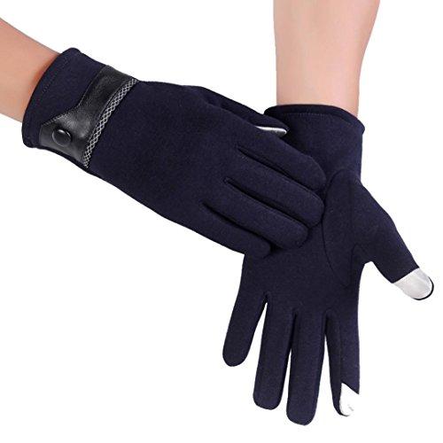 Saingace® Gants Hommes,hommes thermiques automne hiver gants écran tactile moto neige de ski de snowboard chaudes Marine5
