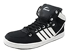 Triqer Mens 742 Black Tpr Basketball Sports Shoes( size 8 ind/uk)
