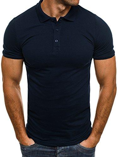 OZONEE Herren Herren Poloshirt Polohemd Polo T-Shirt Kurzarm Figurbetont BREEZY 171221