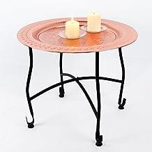 Orientalischer Marokkanischer Kupfer Beistelltisch Teetisch Klapptisch Couchtisch Mit Tablett Orient Metall Tisch 50 Cm H