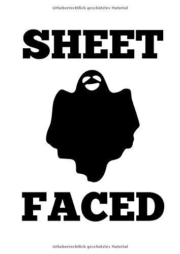 Notizbuch: Halloween Geist Wortspiel Lustiges Kostüm Geschenk 120 Seiten, A4, Blanko / Skizzen, (Wortspiel Kostüm Halloween)