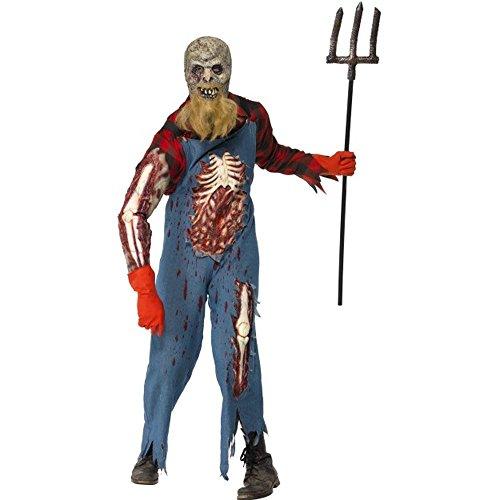 Kostüm Zombie Farmer - Smiffys Halloween Herren Kostüm Zombie Farmer Horror Zombiekostüm Gr.M