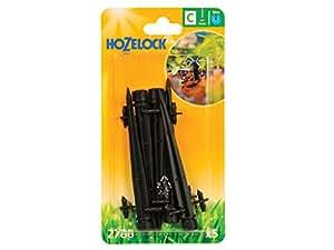 Hozelock einstellbarer Minisprinkler, Endstück, zum Einstecken in die Erde, 4mm,5Stück pro Packung