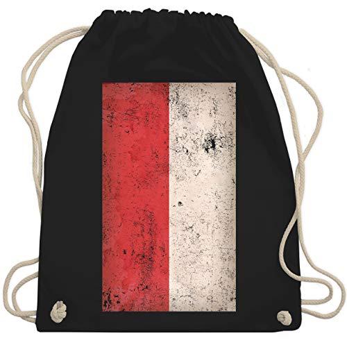 Fußball-Europameisterschaft 2020 - Polen Flagge Vintage - Unisize - Schwarz - WM110 - Turnbeutel & Gym Bag