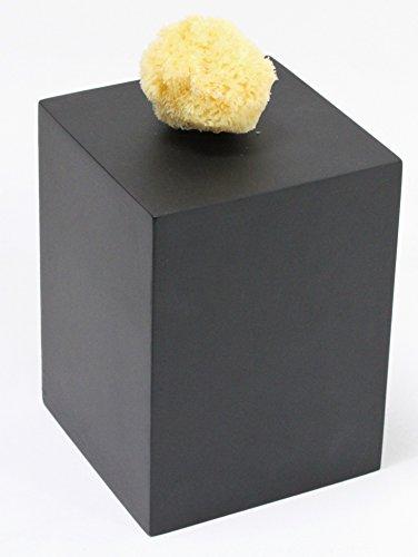 """Sockel für Statuen + Figuren, Podest Größe """"M"""" = 15x15x20 cm schwarz lackiert, Holzsockel, Holzsäule"""