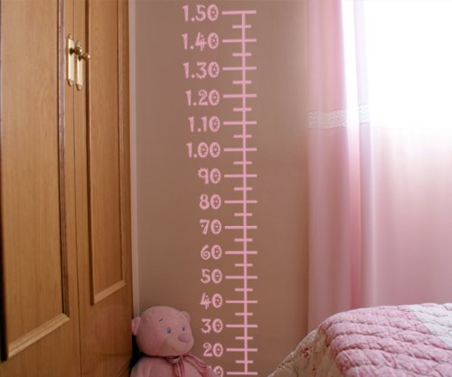 VINILOS DECORATIVOS INFANTILES DE MEDIDOR SENCILLO 30X150 CMS ROSA
