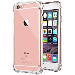 """iPhone 6s Plus Case, iPhone 6 Plus Case, Jenuos Clear Soft TPU Shockproof Phone Case Cover Transparent Silicon Bumper for Apple iPhone 6 Plus / 6S Plus 5.5"""" (6P-TPU-CL)"""