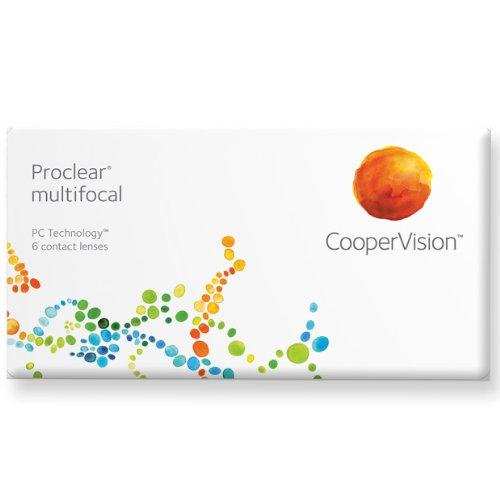 Proclear multifocal Gleitsicht Monatslinsen weich, 6 Stück / BC 8.7 mm / DIA 14.4 / ADD  +1.50 D / -4,25 Dioptrien