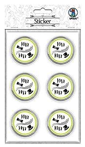 Ursus Pegatinas de Boda 59530003F, 24 Pegatinas con Texto Mr & Mr, Autoadhesivas y con Acabado de láminas, diámetro Aprox. 4,8 cm