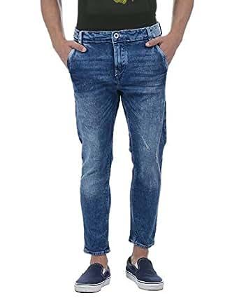 Flying Machine Men's Tapered Jeans (FMJN8350_Blue_32)