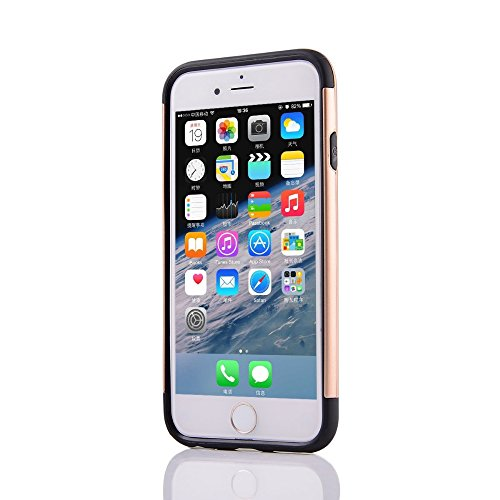 UKDANDANWEI Apple iPhone 6s 2 in 1 Hybrid Armor Dual-Layer Hard PC + Flexible Soft TPU Slim Case Shock-Proof Schützende Shield für Apple iPhone 6s - Beige Beige