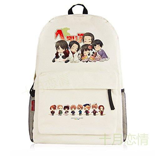 siawasey Anime Axis Powers Hetalia Cosplay Schultasche Daypack College Rucksack Schultasche