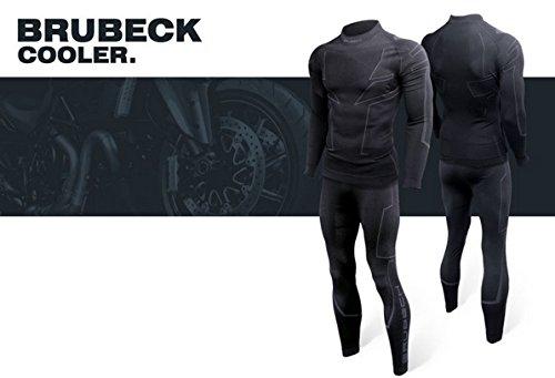 Brubeck® COOLER Biker Funktionswäsche, Größe und Farbe:XXL - schwarz - LS11800 + UP® Schlüsselanhänger