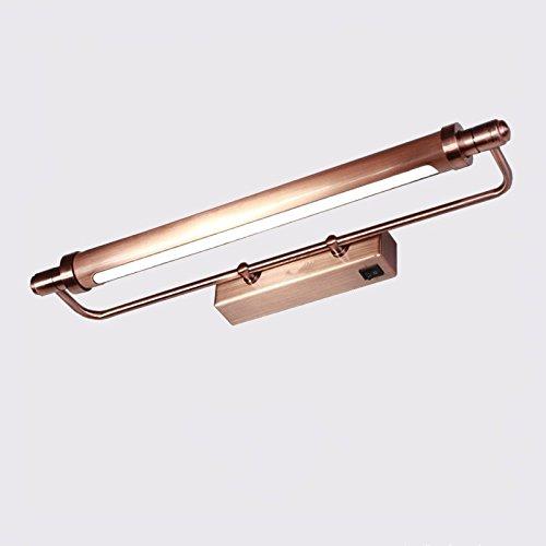 SJUN Amerikanische Spiegel Leuchten Led Europäischen Retro-Garten Badezimmer Spiegel Badezimmer Schrank Spiegel Lampe Lampe Kommode Lampen,Braune Patina (51Cm)
