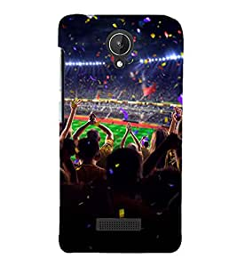 EXCITEMENT IN A SPORTS ARENA 3D Hard Polycarbonate Designer Back Case Cover for Micromax Canvas Spark Q380