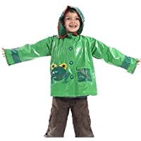 Scribble Kids Frog Design Waterproof Coat, Raincoat Mac Jacket, 4 - 9 Years (Medium)