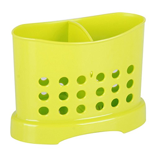 Plastic Cutlery Drainer Caddy Holder (Lime Green)