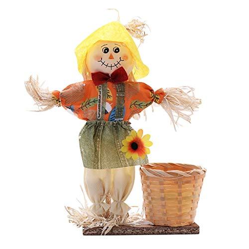 Sunnywill Poupée Fruits décoration Bol Halloween fantôme Panier de Bonbons Home Decor tissé à la Main