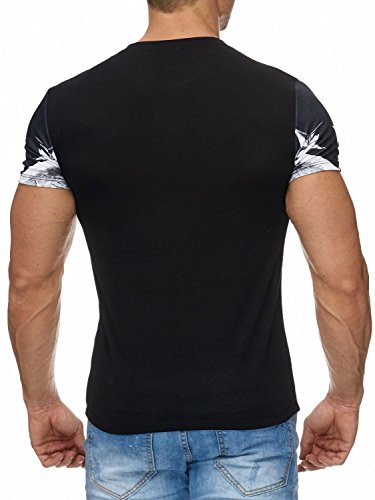 Herren T-Shirt · Regular Fit · Dollar Print Perseus Figur · Vintage Kurzarm Shirt mit Rundhalsausschnitt · Urban · Streetstyle Oberteil · bedruckt in Weiß · H1965 in Markenqualität Weiß