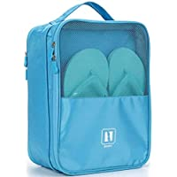 SHOPPOSTREET Waterproof Travelling Shoe Storage Bag/Footwear Organiser Pouch/Portable Shoes Storage Bag (Multi Color)