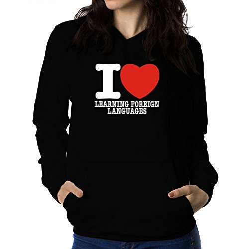Teeburon love Learning Foreign Languages Women Hoodie