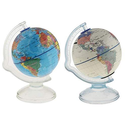 ptur Dekoration 2 Stücke 16 cm Kunststoff Weltkugel Karte Schule Erde Geographie Pädagogisches Spielzeug Kinder Geschenk Home Office Dekorative Ornament ()