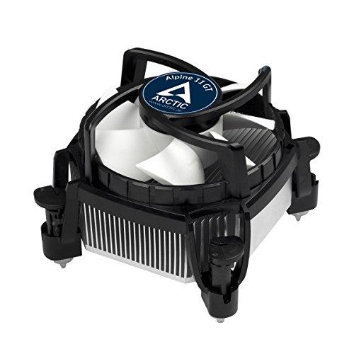 ARCTIC Alpine 11 GT Rev.2 - Superleiser Intel CPU Kühler für Mini PCs - durch 80 mm PWM Lüfter bis zu 75 Watt Kühlleistung - Mit voraufgetragener MX-2 Wärmeleitpaste - Einfachen Montagesystems Cpu-lüfter 80mm