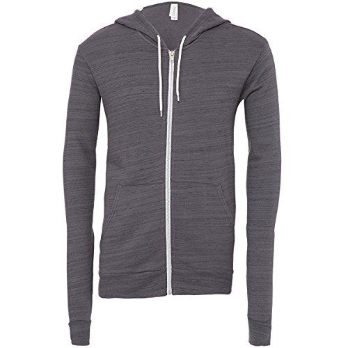 Unisex polycotton fleece full zip hoodie Dark Grey Marble Fleece (Zip Maske Hoodie Full)