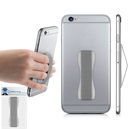 Silver Case Compatible Anti-Static Finger Elastic Grip Holder with Strong Adhesive For Nokia Asha 210  available at amazon for Rs.237