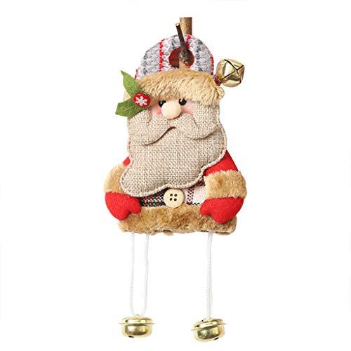 Baby Mann Alter Kleiner Kostüm - WOBANG Weihnachts deko, Weihnachten kreative Stoffdekorationen Weihnachten Sackleinen Puppe Anhänger Cartoon Alter Mann Puppe hängende Szene Dress Up (A)