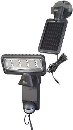 Brennenstuhl premium projecteur lED solaire sOL sH0805 p1, iP44 avec détecteur de mouvements à infrarouges 8xLED 0,5 w 320 lm longueur du câble 4,75 m 1179310 couleur anthracite