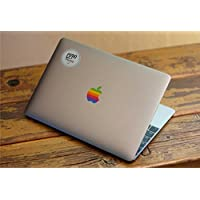 "Design Old Apple Retro Rainbow EppoBrand Logo Sticker Decal For 12"" Macbook and 13"" 15"" Macbooks without glowing logo"