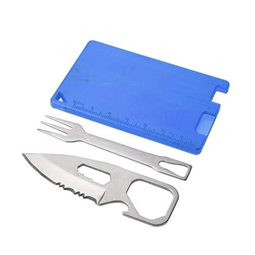 ug, Camping Grill Messer Gabel EDC Sicherheit Erste Hilfe Outdoor Multifunktions-Werkzeugkarte ()