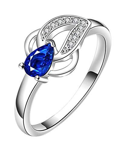 Mabo Collection Damen Ringe Silber mit London Blue Topas Größe: 55 (17.5) wegen Geschäftsaufgabe
