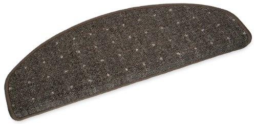 Ypsilon speedy tapis d'escalier semi-circulaire 65 x 23 cm marron