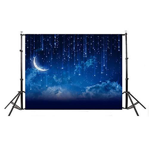 Zhangcaiyun-Photo Leichtes zusammenklappbares Hintergrundtuch Einfacher Stil Fotograf Hintergrund Sternenhimmel Thema Fotografie Hintergrundtuch Fotografie (Farbe : C1, Größe : 150x210cm)