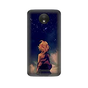 Skintice Designer Back Cover with direct 3D sublimation printing for Moto C