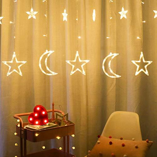 duquanxinquan LED Lichterkette Lichtervorhang Weihnachtslichterkette Dekoration für Weihnachten 8 Blinkenden Modi Weihnachten Fensterbeleuchtung Partylichterkette Warmweiß Weihnachtsbeleuchtung