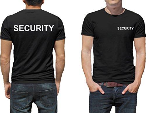Security Sicherheit T-Shirt Druck Unisex Baumwolle Fruit of The Loom Neu T-Shirt Farbe Schwarz / Druck Farbe Weiß