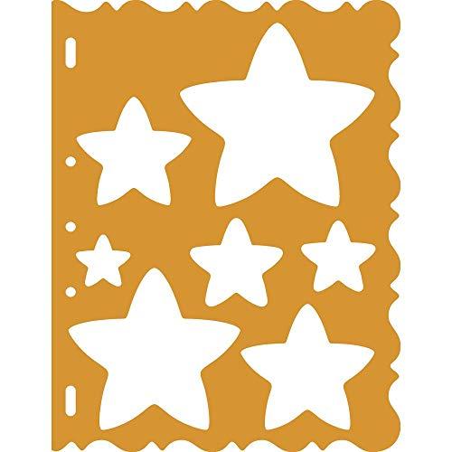 Fiskars ShapeCutter Schablone, Schablone zum Erstellen von Sternen, 1003828 - Stern-schablonen