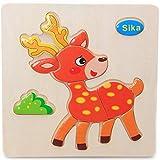 Giplar Baby Spielzeug , Puzzle aus Holz , Pädagogisches Holzspielzeug Lernspielzeug für Kinder