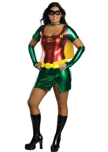 Womens Plus Size Sexy Robin Girl (Kostüme Sexy Female Robin)