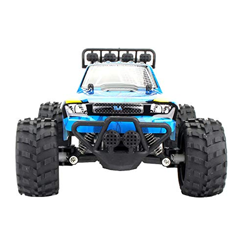 FiedFikt 1:18 2WD High Speed RC Racing Car Remote Control CaseTruck Off-Road Buggy Toys Truck Car Toys Plastic Car Models blau