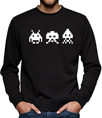 TLM Astro Invaders Sweatshirt Pullover Herren XXXXL Schwarz