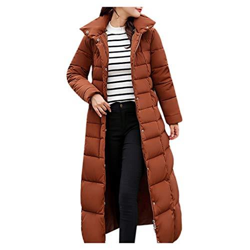 Dragon868 Damen Frühling Taschen Übergangsmantel Lange Jacke Mantel Gefüttert mit Kapuze - Gürtel Trench Lange Mantel Jacke