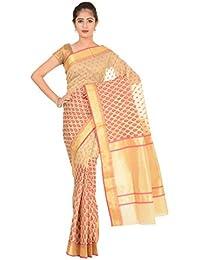 Paheli Silk Saree (Paheli017_Beige And Pink)