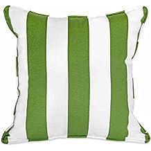 WANGXIAOLIN Cuscini Per Divano Lombare Cuscino Per Ufficio Divano Verde Bianco Striscia Verticale Zaino In Cotone Contenente Cuscino ( dimensioni : 50cm*50cm )