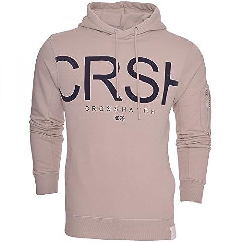 Crosshatch Mens Designer Casual Hooded Logo Top Hoody Fleece Sweatshirt Jacket Small Moonstruck